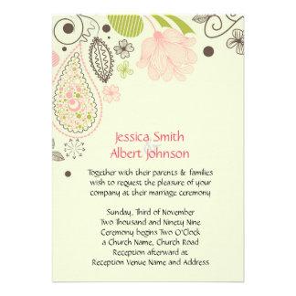Spring Joy Wedding Invite