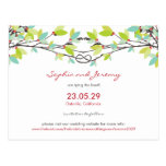 Spring Knotted Love Trees Save The Date Wedding Postcard