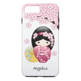 Spring Kokeshi Doll - Cute Japanese Geisha Girl iPhone 8 Plus/7 Plus Case