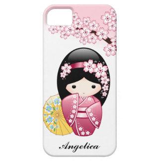 Spring Kokeshi Doll - Cute Japanese Geisha Girl iPhone SE/5/5s Case
