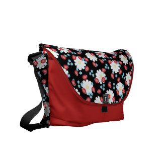 Spring Ladybug Pattern Messenger Bag
