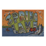 Spring Lake, New Jersey - Large Letter Scenes Posters