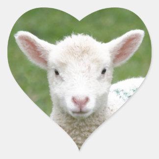 Spring Lambs Heart Sticker