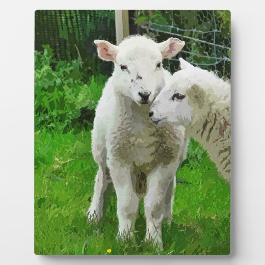 SPRING LAMBS PLAQUE