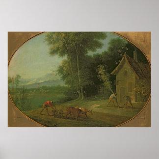 Spring Landscape, 1749 Poster