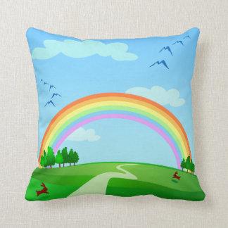 Spring landscape, pillow