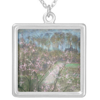 Spring Landscape Silver Plated Necklace