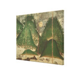 Spring Landscape with Sun Gallery Wrap Canvas