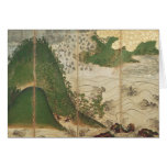 Spring Landscape with Sun Greeting Card