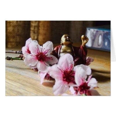 Spring Laughing Buddha Card card