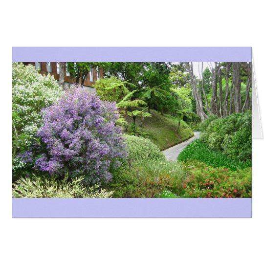 Spring Lavender Path Greeting Card