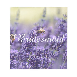 Spring Lavender with Bees Purple Floral Notepad