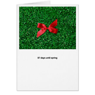 Spring Lawn Greeting Card