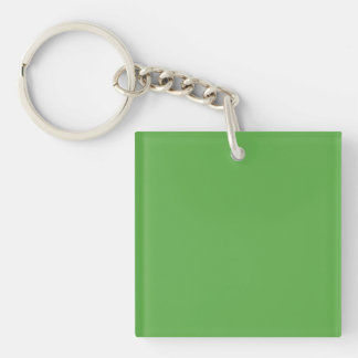 Spring Leaf Green in an English Country Wedding Single-Sided Square Acrylic Keychain