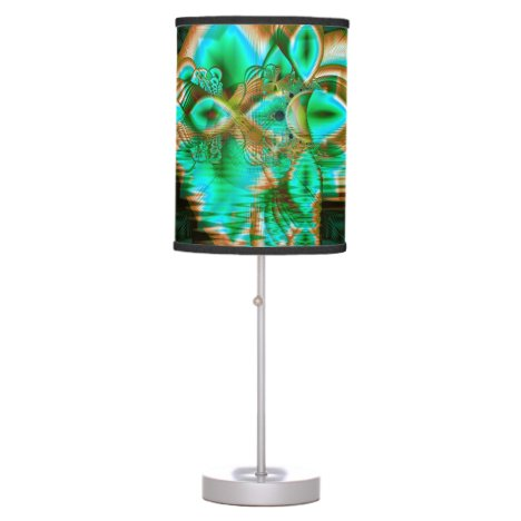 Spring Leaves, Abstract Crystal Flower Garden Table Lamp