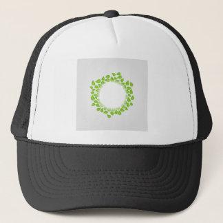 Spring leaves artwork trucker hat