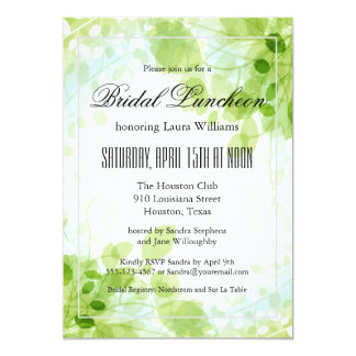 Spring Leaves Garden Floral Bridal Luncheon Card