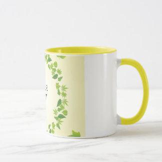 Spring leaves mug