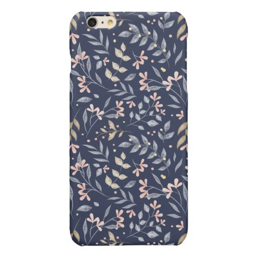 SPRING LEAVES PATTERN DESIGN GLOSSY iPhone 6 PLUS CASE