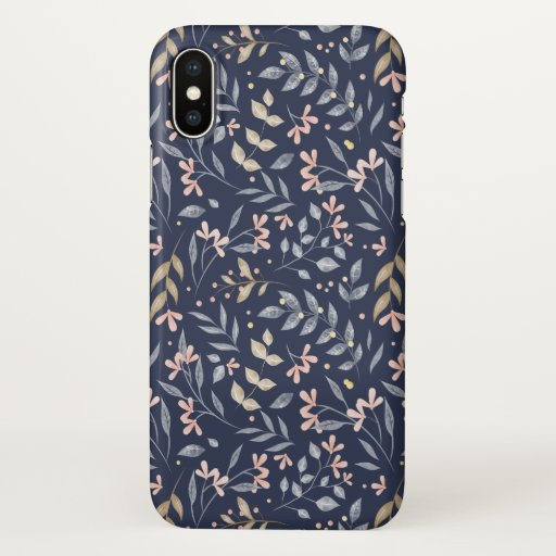SPRING LEAVES PATTERN DESIGN iPhone X CASE