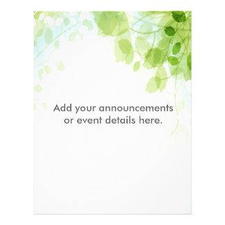 Spring Leaves Watercolor Custom Flyer