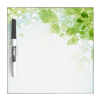 Spring Leaves Watercolor Dry-Erase Board