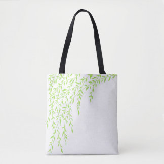 Spring Leaves Weeping Willow Green Branch Tote Bag