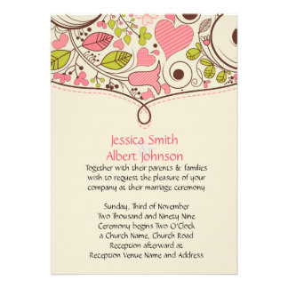 Spring Life Wedding Invite