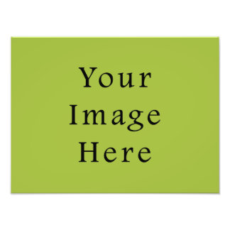 Spring Light Lime Green Color Trend Blank Template Photo Print