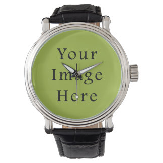 Spring Light Lime Green Color Trend Blank Template Watch