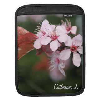 spring light pink plum flowers sleeve for iPads