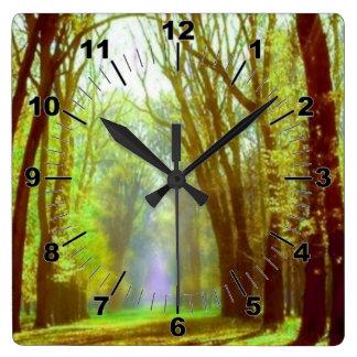 Spring Light Wall Clock