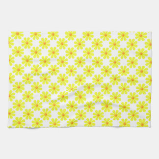 Spring light yellow flowers for kitchen hand towel