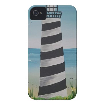 Beach Themed Spring Lighthouse iPhone 4 Cover
