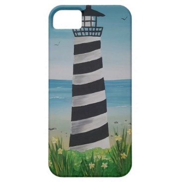 Beach Themed Spring Lighthouse iPhone SE/5/5s Case