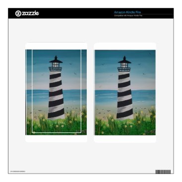 Beach Themed Spring Lighthouse Kindle Fire Decal