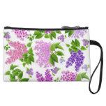 Spring Lilac Flowers Bagettes Bag Wristlet Clutch