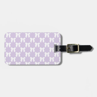 Spring Lilac Pastel With White Bows Tags For Luggage