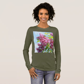 Spring lilac with your name long sleeve T-Shirt