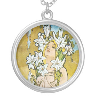 Spring Lily Silver Plated Necklace