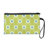 Spring Lime Green Blue Circles Mother's Day Gifts Wristlet