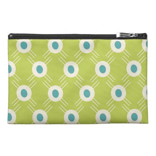 Spring Lime Green Blue Circles Mother's Day Gifts Travel Accessories Bags