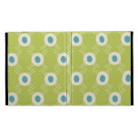 Spring Lime Green Blue Circles Mother's Day Gifts iPad Folio Cases