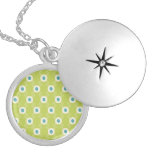 Spring Lime Green Blue Circles Mother's Day Gifts Custom Jewelry