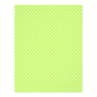 Spring Lime Green Polka Dot Scrap Book Paper