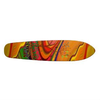 Spring Lover Abstract Art  Skateboard