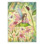 Spring Magic Cute Fairy and Ladybug Fantasy Art Cards