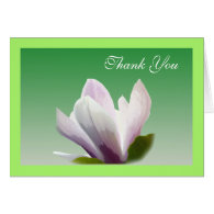spring magnolia flower thank you greeting cards