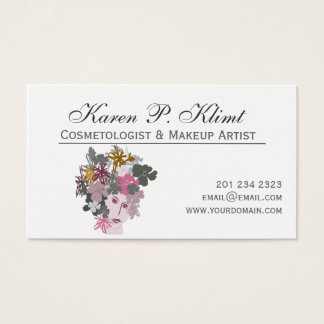 Spring-Maid  Head Carnival Makeup Artist Floral Business Card