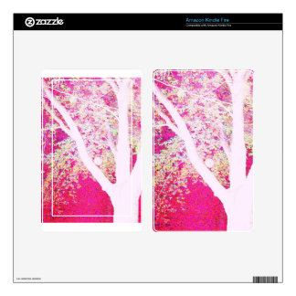 Spring Maple: hot pink Kindle Fire Decals